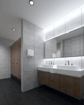 卫生间, 公共卫生间, 现代卫生间, 现代, 洗手台