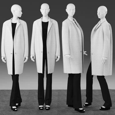 服装, 女装, 模特, 地毯, 衣服