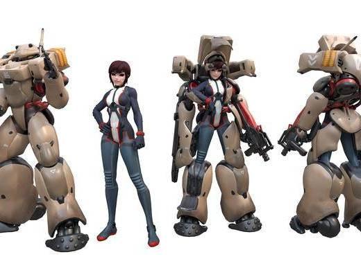 游戏角色, 机器人, 外骨骼装甲