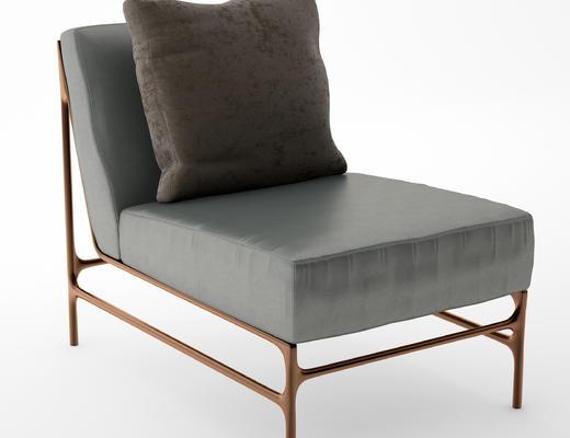 现代简约, 单人沙发, 现代沙发, 沙发