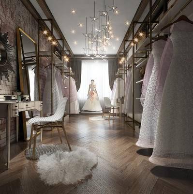 美甲店, 婚纱店, 店铺, 店