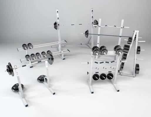 杠铃, 杠铃架, 运动器材, 健身器材