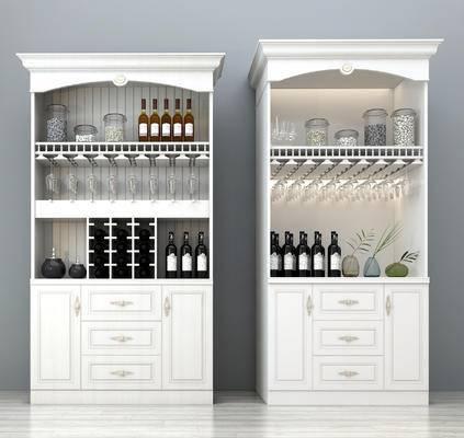 欧式酒柜, 酒柜, 整体酒柜, 个性酒柜, 实木酒柜, 装饰酒柜, 餐厅酒柜