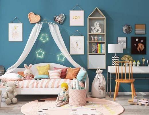 婴儿床, 玩具, 桌椅组合, 墙饰, 装饰画