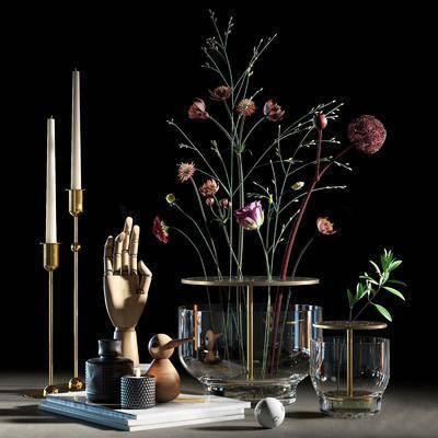 现代装饰品, 装饰品, 现代摆件, 摆件组合