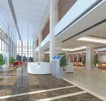 现代银行, 银行, 业务大厅
