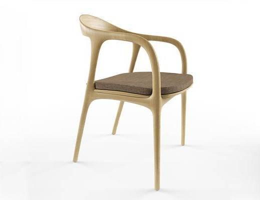 北欧简约, 椅子, 木椅, 北欧椅子, 实木椅