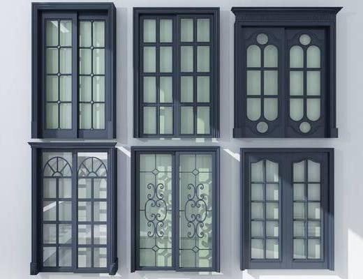 玻璃门, 推拉门组合, 现代