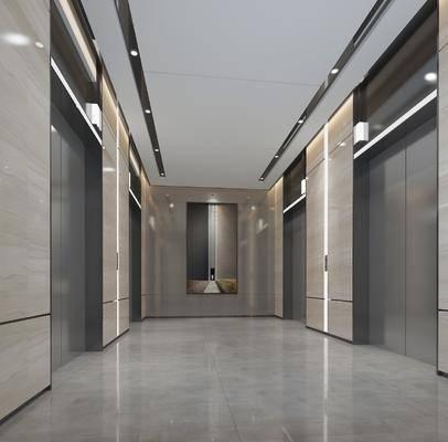 现代, 电梯厅, 工装