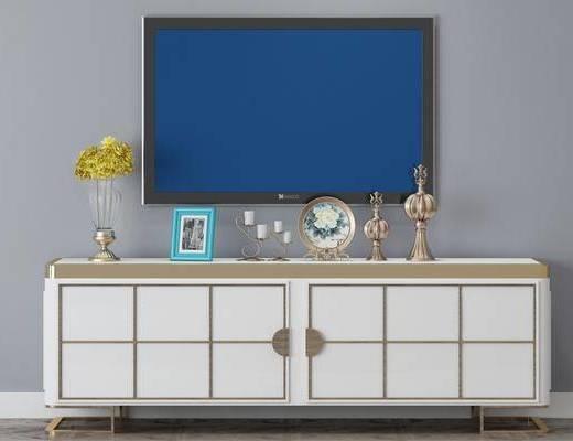 电视柜, 摆件组合