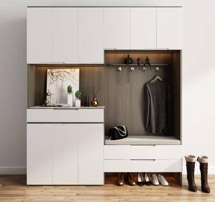 鞋柜, 柜架组合, 服饰, 衣架
