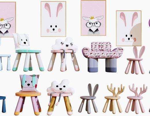 现代儿童椅, 卡通椅