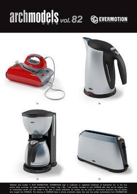 热水壶, 熨斗, Evermotion, Archmodels, EV, 家用电器
