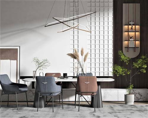 现代风格餐桌椅组合