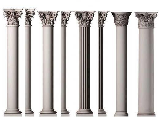 欧式, 罗马柱, 单体