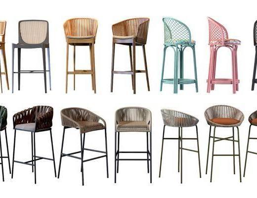 现代, 藤椅, 吧椅
