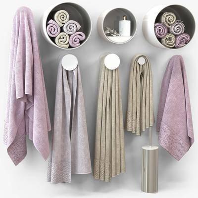 毛巾, 毛巾架, 现代毛巾架, 摆件, 现代