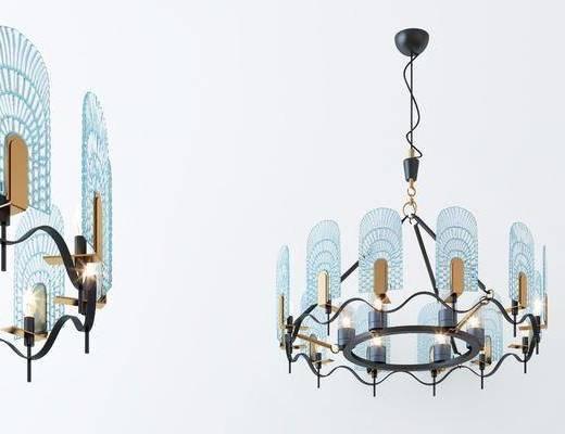吊燈, 燈具組合