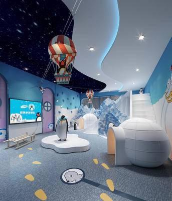 娱乐室, 背景墙, 屏幕, 玩耍区
