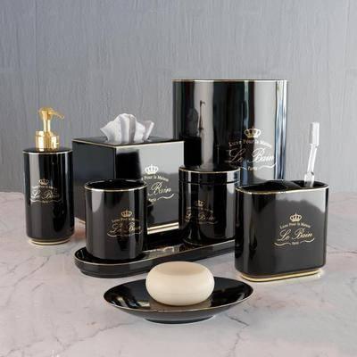 陶瓷, 刷牙杯, 香皂, 洗浴用品