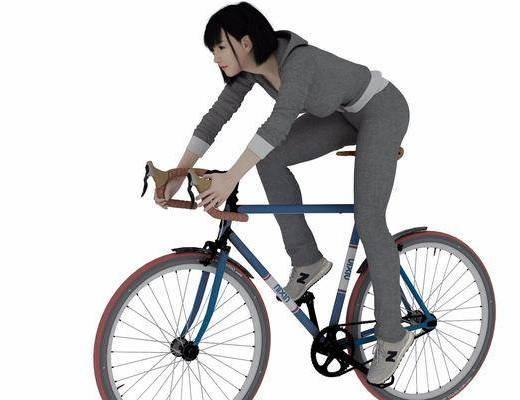 自行车, 女人, 现代