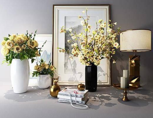 花瓶, 摆件, 花卉, 装饰品