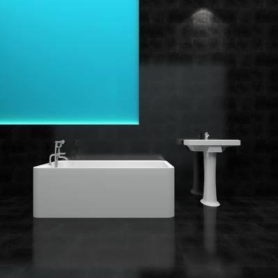 柱盆, 浴缸, 现代, 双十一