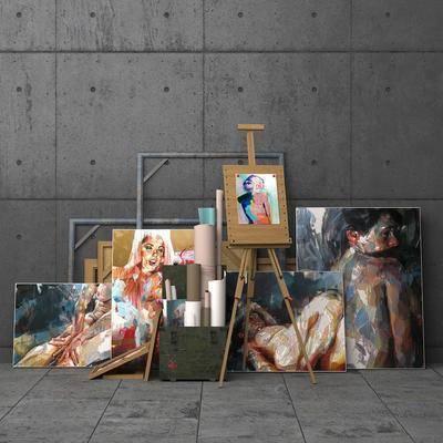 装饰画, 相框, 画架, 纸, 现代