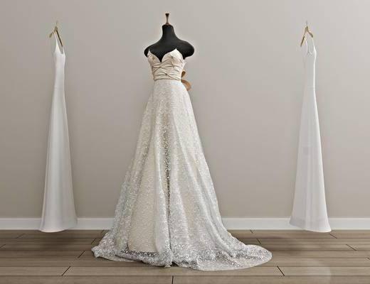 婚纱礼服, 服装, 现代