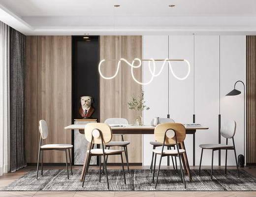 北欧餐厅, 餐桌椅组合, 北欧餐桌椅组合