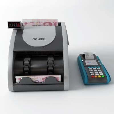 现代, 验钞机, 刷卡机, 3d模型, 工具