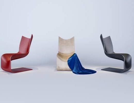 后现代, 单椅, 异形单椅