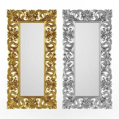雕花装饰镜, 现代