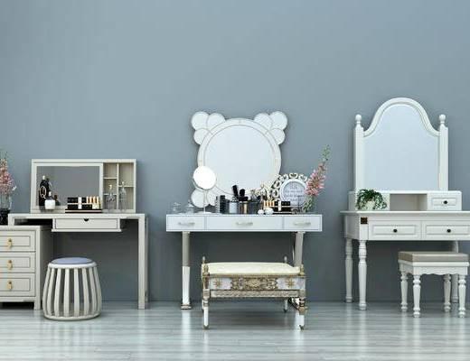 梳妆台, 欧式梳妆台, 简约梳妆台, 创意梳妆台, 折叠梳妆台, 木质梳装台