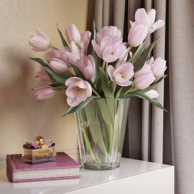 花瓶, 花卉, 摆件, 现代