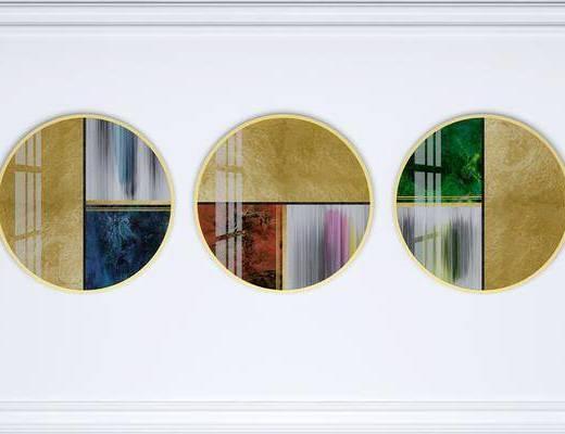 挂画组合, 装饰画, 组合画, 抽象挂画, 艺术挂画, 现代