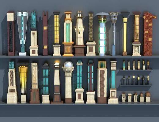 路灯, 景观灯, 户外灯, 现代景观灯, 灯柱