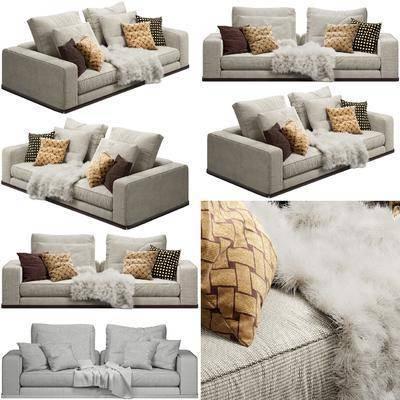 沙发组合, 双人沙发, 布艺沙发