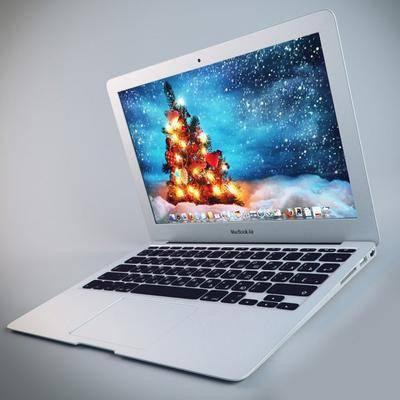 笔记本, 现代, 电脑, 苹果