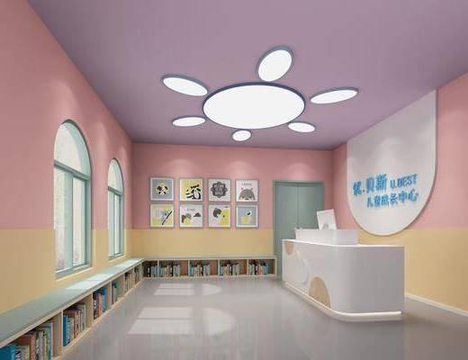 幼儿园, 现代幼儿园, 前台, 书籍
