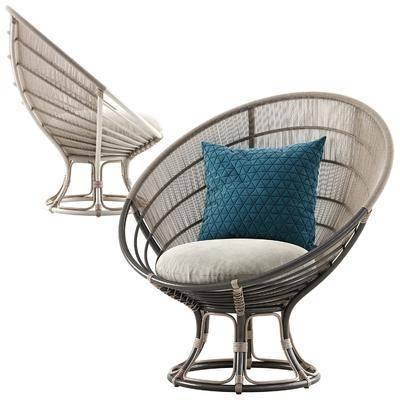 藤编休闲椅, 户外椅, 藤编椅, 现代