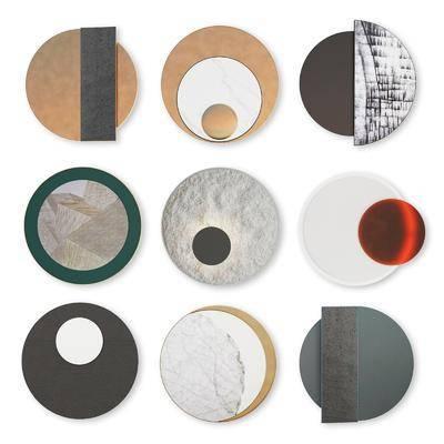 圓形墻飾, 掛飾組合, 掛件, 現代