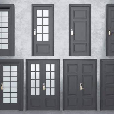 双开门, 单开门, 推拉门, 现代