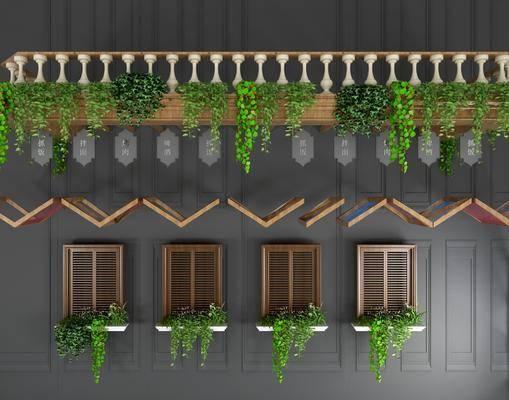 美式護欄, 護欄, 植物