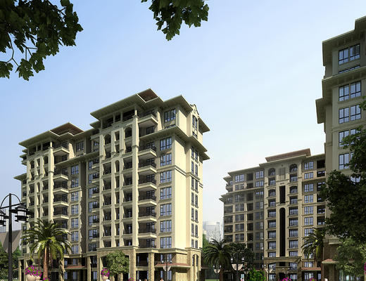 住宅, 小区, 高层, 建筑, 室外