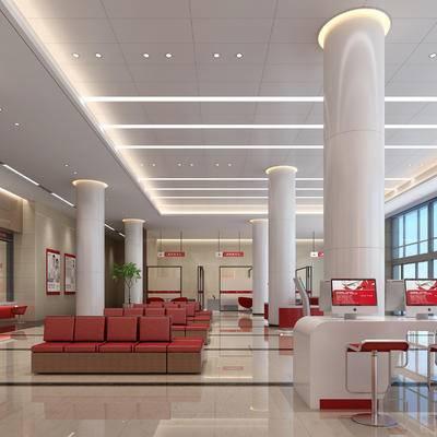 银行, 办事厅, 大厅, 大堂, 等候厅