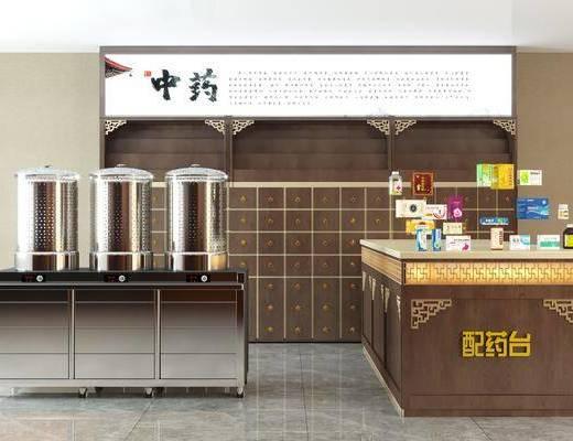 中式, 煎药机, 柜架, 药柜