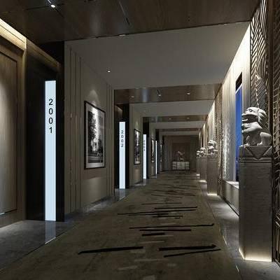 走廊, 过道, 中式, 酒店