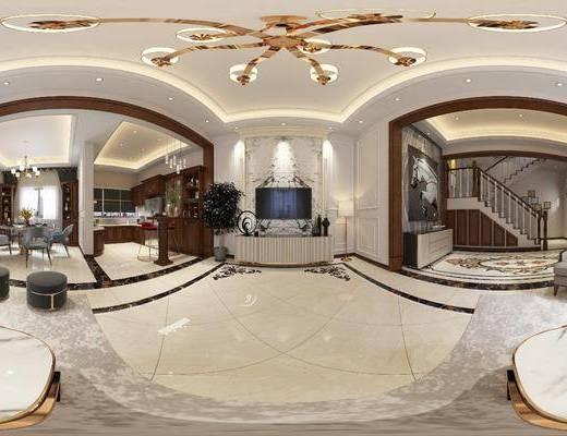 簡美客廳, 客廳, 沙發組合, 餐廳, 餐桌椅