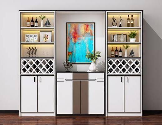 餐邊柜, 酒瓶裝飾品, 擺件組合